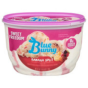 Blue Bunny Sweet Freedom No Sugar Added Banana Split Ice Cream