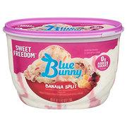 Blue Bunny Sweet Freedom No Sugar Added Banana Split Ice Cream