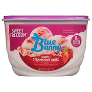 Blue Bunny Sweet Freedom No Sugar Added, Double Strawberry Ice Cream