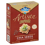 Blue Diamond Artisan Nut-Thins Chia Seeds Crackers