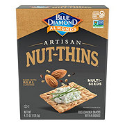Blue Diamond Artisan Nut-Thins Natural Multi-Seeds Cracker Snacks