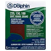 Blue Dolphin Aluminum Oxide Assorted Sandpaper Sheets