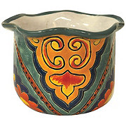 Blue Orange Pottery Angeles Greca Planter