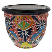 Blue Orange Pottery Bala Talavera Planter