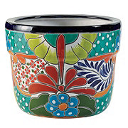 Blue Orange Pottery Chihuahua Talavera Planter