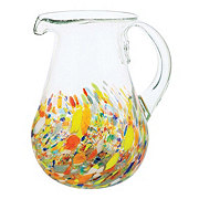 Blue Orange Pottery Confetti Pitcher