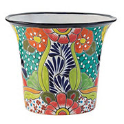 Blue Orange Pottery Ele Talavera Planter