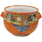 Blue Orange Pottery Fiesta Talavera Cazo