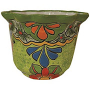 Blue Orange Pottery Fiesta Talavera Pina