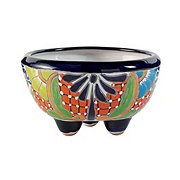 Blue Orange Pottery Molcajete Talavera Planter