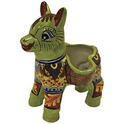 Blue Orange Pottery SM Donkey Talavera Planter