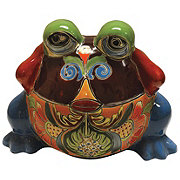 Blue Orange Pottery Small Frog Talavera Planter