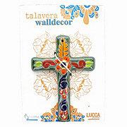 Blue Orange Pottery Talavera Green Rectangular Cross