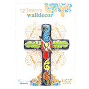 Blue Orange Pottery Talavera Navy Rectangular Cross