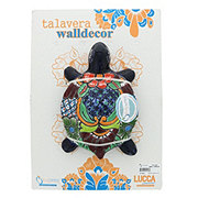 Blue Orange Pottery Talavera Wall Turtle