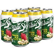 Blue Sky Ginger Ale Zero Sugar 12 oz Cans