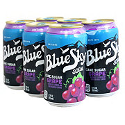 Blue Sky Natural Soda Grape