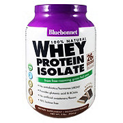 Bluebonnet 100% Natural Whey Protein Isolate Chocolate