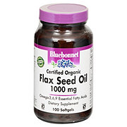 Bluebonnet Certified Organic Flax Seed Oil 1000 mg Softgels