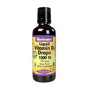 Bluebonnet Liquid Vitamin D3 Drops 1000 IU