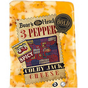 Boar's Head Bold 3 Pepper Colby Jack Cheese, sold by the