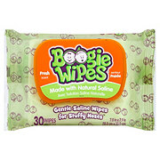 Boogie Wipes Gentle Saline Wipes or Stuffy Noses - Fresh Scent