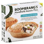 Boomerang's Chicken & Mushroom Handheld Aussie Pies