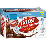 BOOST Glucose Control Nutritional Drink Chocolate Sensation 12 pk