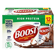 Boost High Protein Rich Chocolate Complete Nutritional Drink, 12 pk