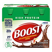 Boost High Protein Rich Chocolate Complete Nutritional Drink 6 PK