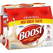 Boost Original Very Vanilla Complete Nutritional Drink 6 PK