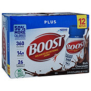 BOOST Plus Complete Nutritional Drink Drink Rich Chocolate 12 pk