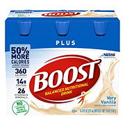 BOOST Plus Complete Nutritional Drink Very Vanilla 6 pk