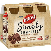 BOOST Simply Complete Nutritional Drink Dark Chocolate 6 pk