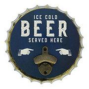Boston Warehouse Bottle Opener Cold Beer Metal Cap
