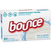 Bounce Free and Gentle Fabric Softener Dryer Sheets