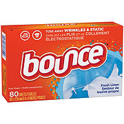 Bounce Fresh Linen Fabric Softener Dryer Sheets