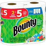 Bounty Select-A-Size Winter Print Huge Roll Paper Towels