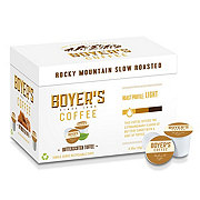 Boyer's Coffee Butterscotch Toffee Light Roast Single Serve Coffee K Cups