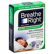 Breathe Right Nasal Strips Extra Clear For Sensitive Skin One Size