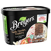 Breyers Vanilla Chocolate Strawberry Ice Cream