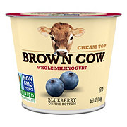 Brown Cow Cream Top Blueberry on the Bottom Whole Milk Yogurt