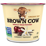 Brown Cow Cream Top Cherry Vanilla Cherry Whole Milk Yogurt
