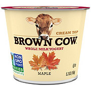 Brown Cow Cream Top Maple Whole Milk Yogurt