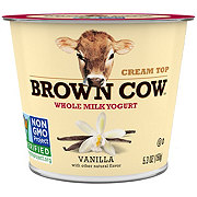 Brown Cow Cream Top Smooth and Creamy Vanilla Yogurt