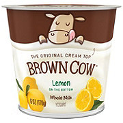 Brown Cow Lemon Cream Top