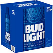 Bud Light Beer Aluminum 16 oz Bottles