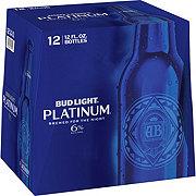 Bud Light Platinum Beer 12 oz Bottles