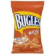 Bugles Crispy Nacho Cheese Flavor Corn Snacks