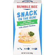 Bumble Bee Snack On The Run! Fat Free Tuna Salad Kit with Wheat Crackers